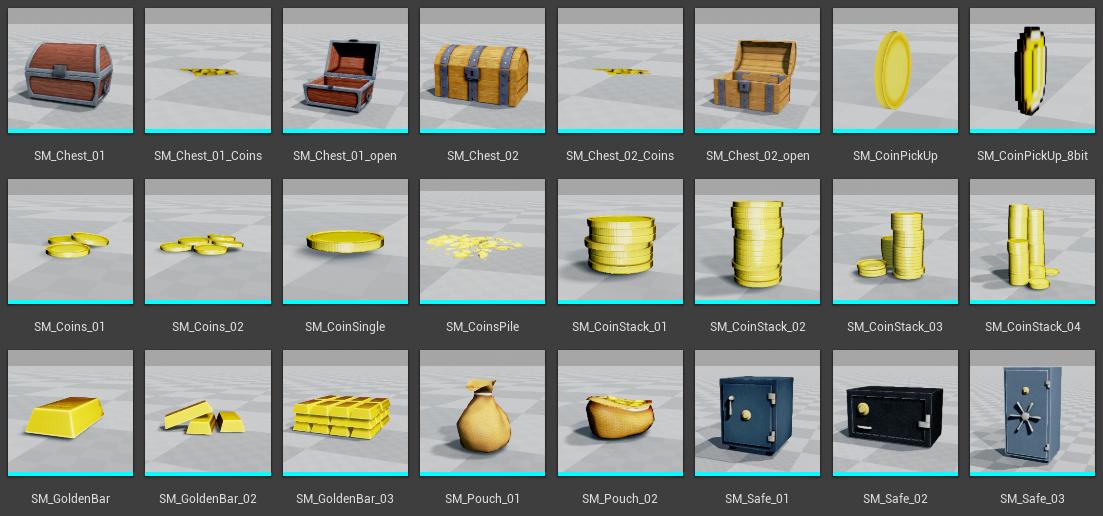 Money Pack Vol  1 Released! | Unreal Engine 4 blog